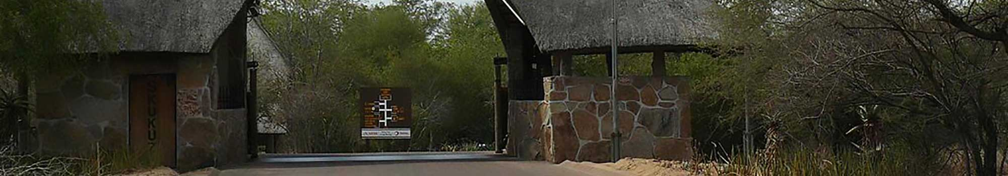 Entrace gate to Skukuza Camp in the Kruger National Park