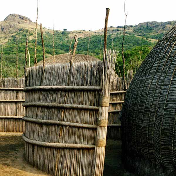 Traditional Swaziland huts